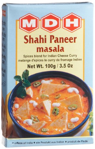 MDH Shahi Paneer Masala (Spice Blend for Indian Cheese Curry), 3.5-Ounce Boxes (Pack of 10)
