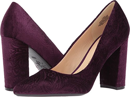 Nine West Women's Astoria Pump, Dark Purple Fabric, 9 Medium - Women Purple Pump