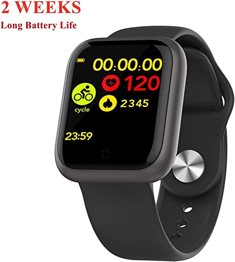 DSMART GT1 Fitness Smartwatch Bluetooth 5.0 Activity Tracking Sports Watch with All-Day Heart Rate Blood Pressure Monitor for Running Riding 15 Days ...