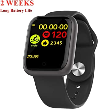 Amazon.com: DSMART GT1 Fitness Smartwatch Bluetooth 5.0 ...