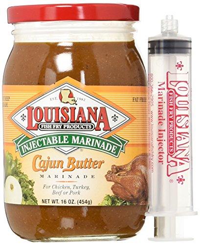Louisiana fish fry Cajun Butter Marinade With Injector 16oz