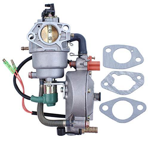 (Auto Choke Dual Fuel Carburetor Carb Gasket For Honda GX390 Chinese 188F 190F 4.5-5.5KW Motor Engine Generator LPG/CNG/Gasoline)