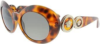 فيرساتشي نظارة شمسية للنساء , اطار بلاستيكي , عدسات بلون رمادي