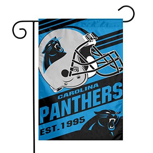 TeamService Carolina Panthers Weatherproof, Wrinkle Resistant, Mildew Resistant Garden Flags, Outdoor Garden Flags and The Best Patio Decor 12x18 -