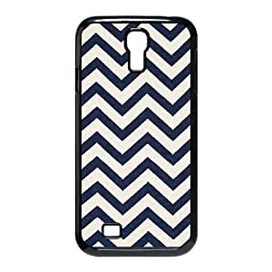 Samsung Galaxy S4 Cases, Antibes Chevron Schumacher 100% solution dyed acrylic Fabric Girly Protective Cases For Samsung Galaxy S4 {Black}