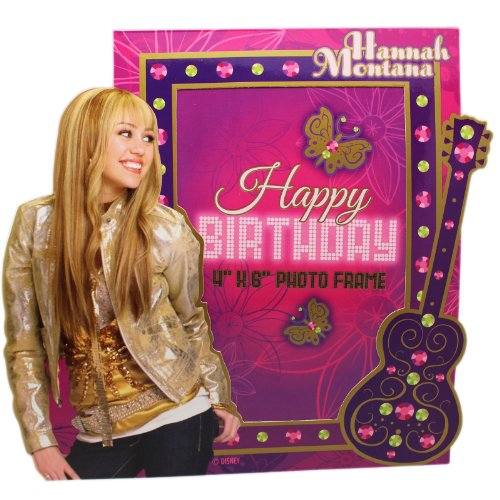 (Purple Hannah Montana Paper Picture Frame Birthday Party Favor)