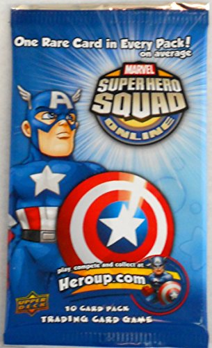 SuperHero Squad Online 10 Card Pack - Trading Card Game Booster (Superhero Trading Cards)