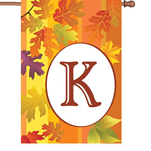 Premier Kites 52414 Fall Monogram House Flag, Letter K, 28-Inch