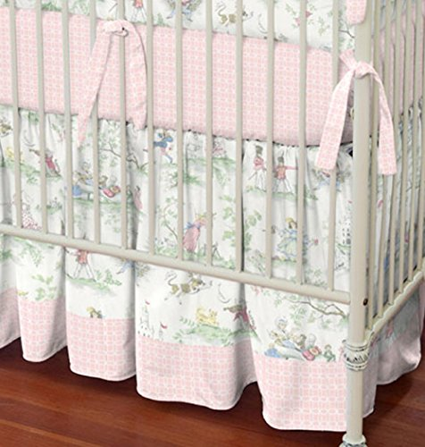 Carousel Designs Pink Over The Moon Toile 2-Piece Crib Bedding ()