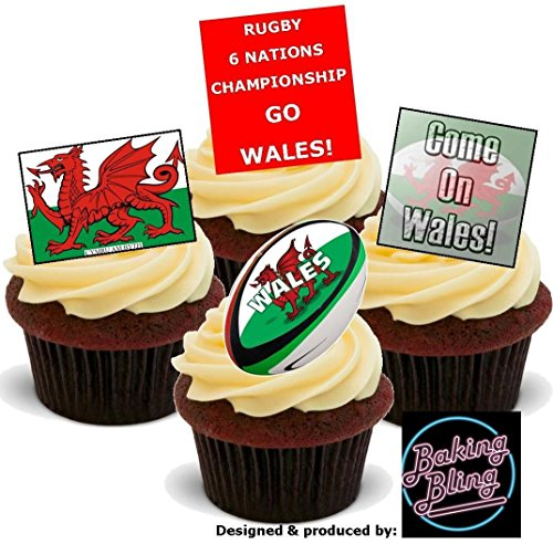 6 Nations Rugby WALES Welsh Mix - Fun Novelty Birthday PREMIUM STAND...