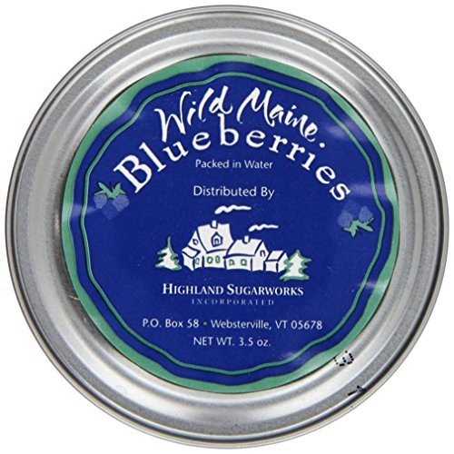 Highland Sugarworks Wild Maine Blueberries Packed In Water, 3.5-Ounce Tins (Pack of 24)