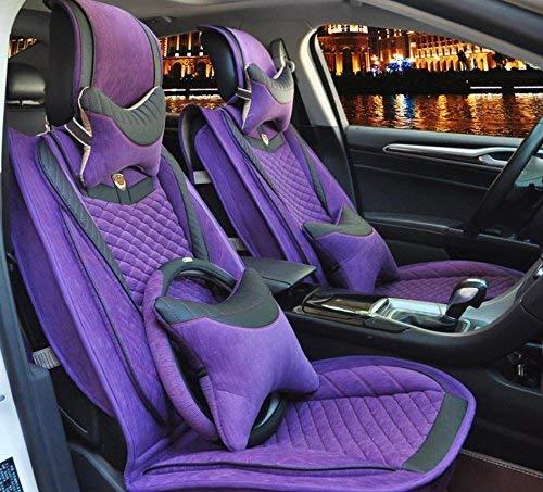 カーカーシートプロテクター用シートカバー 一般車用クッションセットリネンデラックス版(11セット)一般車用クッションカバーFour Seasons Universal 4色選択 カーシートクッションカーシートマット (色 : 2)