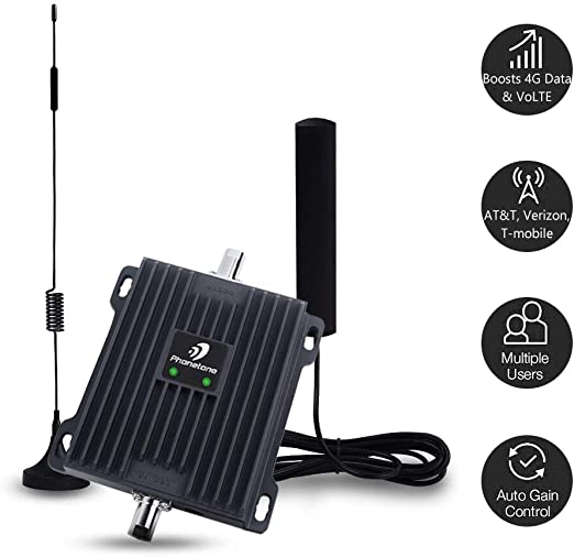 Cell Phone Signal Booster for Car Boosts Band 12//13//17 4G LTE Data /& Volte Truck Mobile Cellular Signal Repeater Amplifier for AT/&T Verizon in Vehicle SUV and RV Voice Over 4G