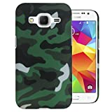 Heartly Army Style Retro Color Armor Hybrid Hard Bumper Back Case Cover For Samsung Galaxy Core Prime SM-G3606 - Army Green