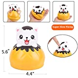 Aolige Jumbo Squishies Cute Yellow Cat Bread Kawaii Cream Scented Very Slow Rising Decompression Squeeze Kids Simulation Toys
