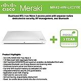 Cisco Meraki MR42 Cloud-Mngd Wless AP + 3yr of Enterprise License and Support