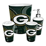 The Northwest Company Green Bay Packers NFL 4 Piece Bathroom Decorative Set (Scatter Series)