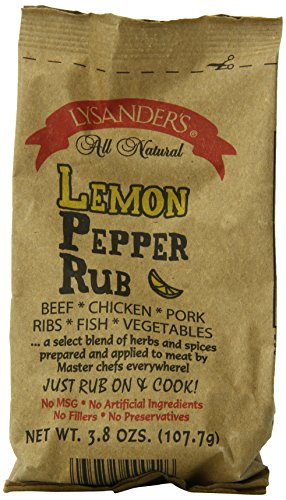 Lemon Pepper Steak (Lysander's Lemon Pepper Rub, 3.8-Ounce (Pack of 6))