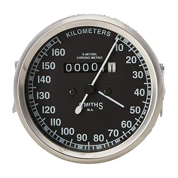 WAI Smith Speedometer Dial for Royal Enfield (Black)