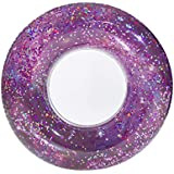 """Poolcandy Galaxy Pool Tube 36"""" - M51 Purple Glitter - Perfect for Swimming Pool Parties, The Beach or Lakes."""
