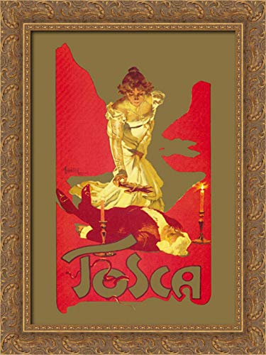 Tosca, 1899 18x24 Gold Ornate Wood Framed Canvas Art by Hohenstein, Adolfo