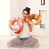 ClearUmm U Shaped Large Croissant Neck Pillow Throw Pillow Cushion Plush Toy for Travel,Nap,Pillow War