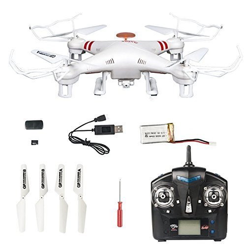 GPTOYS F2C Aviax Remote Control Quadcopter Drone Helicopter with Transmitter & Gyro System & HD Camera & LED Lights & 4G SD Card & SD Card Reader