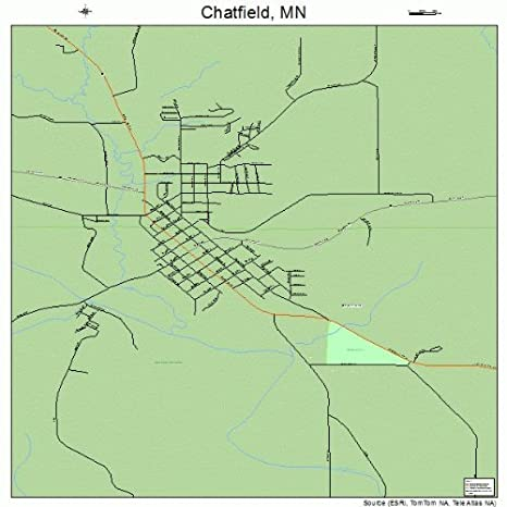 Amazon.com: Large Street & Road Map of Chatfield, Minnesota MN ...