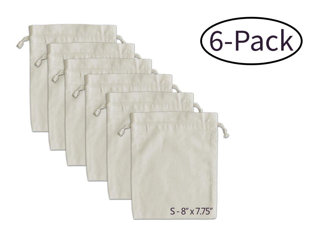 ファームStandオーガニックコットンモスリンProduce Bags – 6 S Set of 6 S ベージュ B01KGEQ2BK B01KGEQ2BK S, 一勝堂:f49365b1 --- itxassou.fr