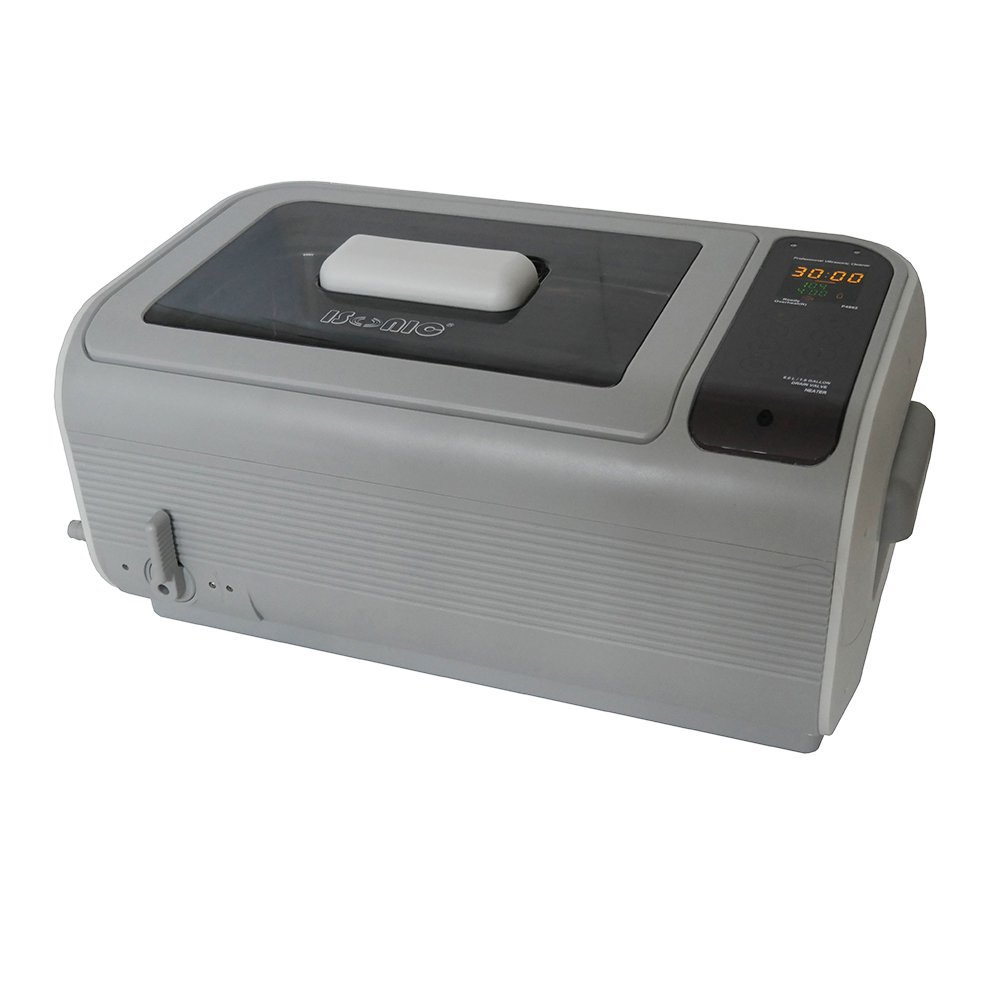 iSonic P4862-IT Commercial Ultrasonic Cleaner, Plastic Basket, Stainless Steel Bucket, 110V, 1.6 gal/6 L, Beige