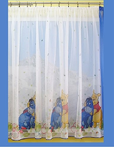 Disney Voile Net Curtain WINNIE THE POOH AND EEYORE