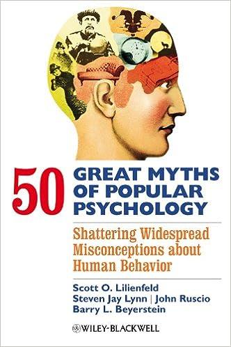Amazon Com 50 Great Myths Of Popular Psychology Shattering
