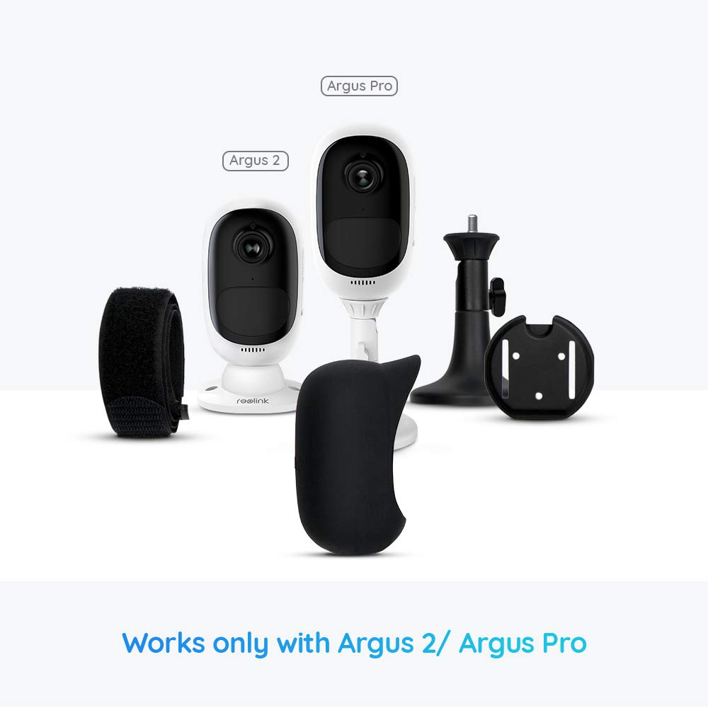 Protect Your Cam Outdoor with These UV and Weather Resistant Silicone Skins Black Skin Cover Designed for Reolink Argus 2 //Argus Pro Outdoor Security Camera REOLINK Accessory Camera NOT Included