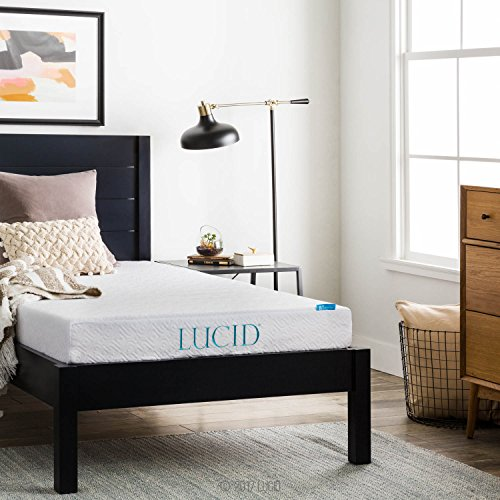 LUCID 6 Inch Gel Infused Memory Foam Mattress - Firm Feel - Perfect for Children - CertiPUR-US Certified - 10 Year warranty - Twin by Lucid® (Image #4)