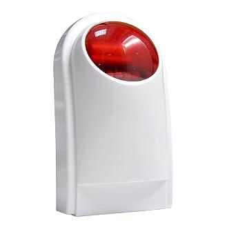 ... Seguridad - Kit Alarma de Hogar - Sistema de Alarma antirrobo inalmbrico con Unidad de Sirena - 4 sensores de Puerta de Ventana, 2 sensor de movimiento ...