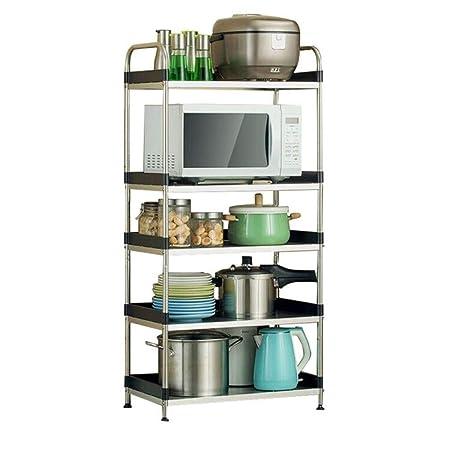 GFFTYX Estante de Cocina - Estante for microondas de Acero ...