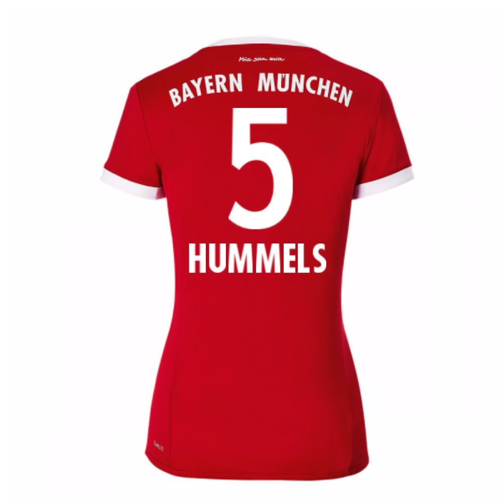 2017-18 Bayern Munich Home Womens Shirt (Hummels 5) B0784BLMG8Red Size 8 Extra Small
