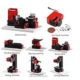 UniqStore 8 In 1 Multipurpose Machine Wood Metal Drill Making DIY Tool Mini Lathe Milling Kit