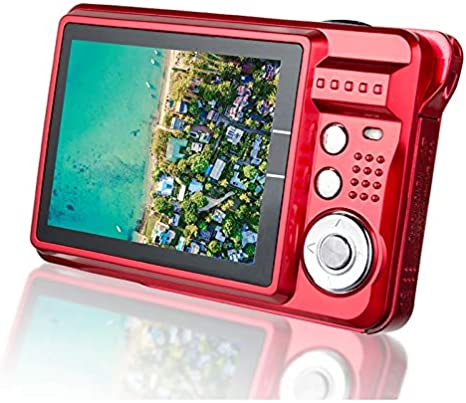 Color : Black CAOMING 21M Pixels Children Digital Camera 2.7 inch Color Display Card Style Digital Photo Video Record Camera HD 8X Zooming Smart Automatic Camera Durable