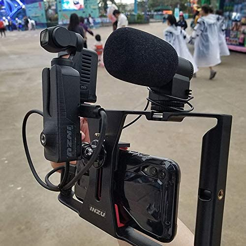 TANGON Video Microphone YouTube Vlogging Facebook Livestream Recording for DJI OSMO Pocket