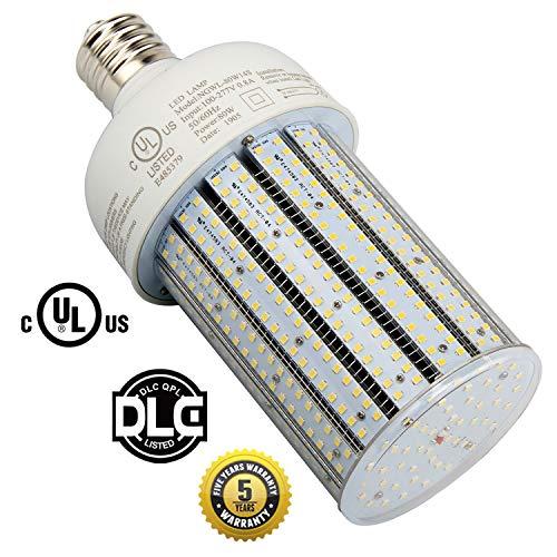 Hps Small Floodlight - 80W LED Corn Light Bulb 5000k Crystal White,Large E39 Mogul Base,Replace 400Watt HID/CFL/HPS,Flood Light Street/Area Lighting 320watt Metal Halide Retrofit (80)