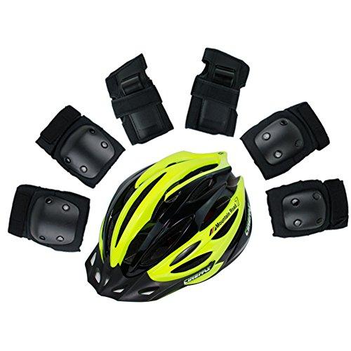 WX-WX Enfant Brillant Lumière Patin Roller Casque Équipement Protecteur Hommes Et Femmes Faire Du Vélo 7 Pièces/Ensembles