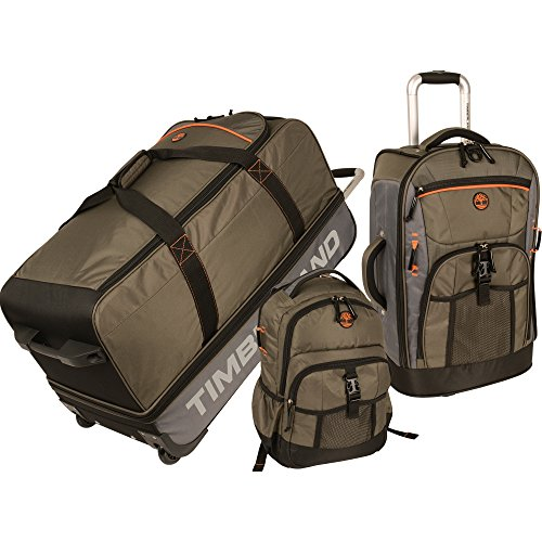 Timberland Hampton Falls 3 Piece Back To School Set, Burnt Olive/Steel Grey/Burnt Orange/Black