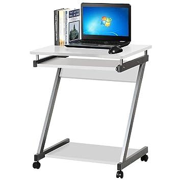 Popamazing Estable para Ordenador Z-Shaped PC Mesa con Mesa deslizable para Teclado para portátil Ordenador estación de Trabajo para Oficina en casa Estudio ...