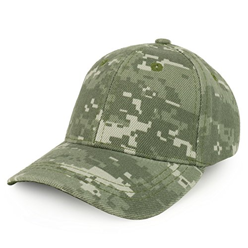 Trendy Apparel Shop Plain Infants Size Structured Adjustable Baseball Cap - Digital CAMO