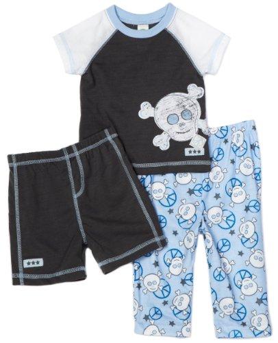 Little Me Little Boys' Peace 3 Piece Sleepwear Set