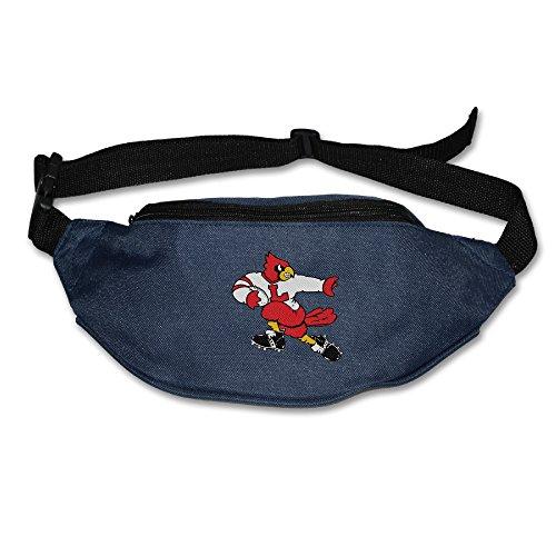 XJBD Men's&Women's Waist Pack University Of Louisville Cardinals Outdoor Sweatproof Pocket Navy - Adult Flamenco Skirt