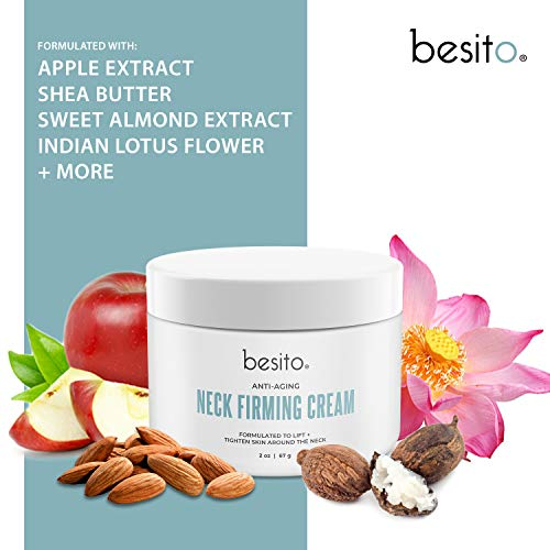 51lUmqRa4aL - besito Advanced Neck Cream with Peptides, Vitamin E, Shea Butter, and More. Anti Aging Neck Firming Cream and Moisturizer Helps Reduce Wrinkles, Fine Lines and Age Spots.