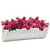 DMC Products 24-Inch Resin Wicker Wall Basket, White For Sale