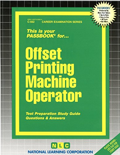 - Offset Printing Machine Operator